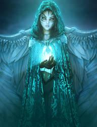 Keeper of the Light, Fantasy Woman Art, Daz Studio