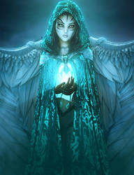 Keeper of the Light, Fantasy Woman Art, Daz Studio by shibashake