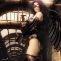 Dark Angel, Sci-Fi Fantasy Woman Art, Daz Studio by shibashake
