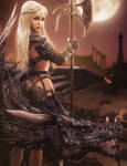 Daenerys, Warrior Queen, Fantasy Woman Dragon Art