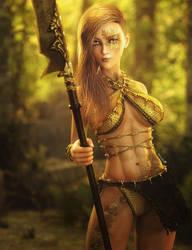 Child of the Forest, Fantasy Woman Art, Daz Studio by shibashake