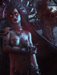 Vampire Tears, Gothic Fantasy Woman Art,Daz Studio