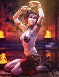 Dance for the Gods, Fantasy Woman Art, Daz Studio by shibashake