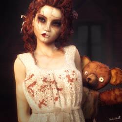My Teddy Bear, Zombie Girl Fantasy Art, Daz Studio by shibashake