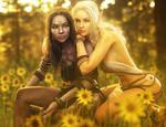 Light and Dark, Fantasy Elf Girls Arts, Daz Studio