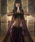 Egyptian Beauty, Fantasy Woman Pin-Up Art, Iray