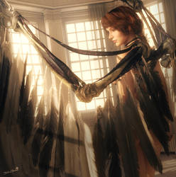 Angel, Fantasy Woman Art, Daz Studio Iray Image