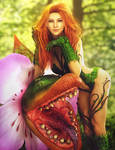 Poison Ivy and Friend, DC Fantasy Woman Fan-Art by shibashake