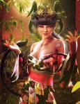 Asian Demon Girl, Fantasy Woman Art, Daz Studio