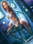 Cyborg Elf Girl, Sci-fi Fantasy Art, Daz Studio