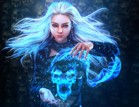 Skull Magic, Fantasy Woman Art, Daz Studio Iray