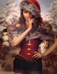 Christmas Secret, Fantasy Santa Woman Art