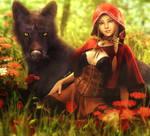 Red Riding Hood, Fantasy Woman Art, Daz Studio