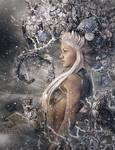 Winter Queen, Fantasy Woman Art, Daz Studio Iray
