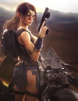 Wonder Woman Cosplay, Lara Croft Fan-Art, Iray