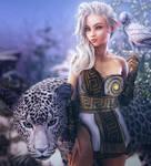 White Elf, Fantasy Woman Art, Daz Studio Iray