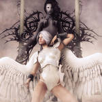 Good and Evil, Fantasy Angel Women Art, Daz Studio