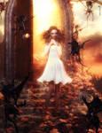 Secret Door, Fantasy Woman Art, Daz Studio Iray