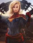 Captain Marvel, Fantasy Woman Fan-Art, Daz Studio