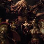 Epic Battle, Cthulhu Art,Daz Studio 3Delight Image