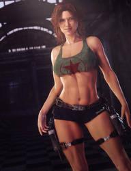 Girl with Guns, Fantasy Woman Art, Daz Studio Iray