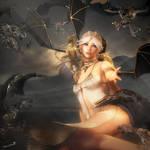 Where Dragons Dwell, Fantasy Woman Art, Daz Studio