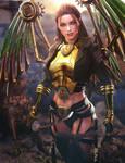 Angel of War, Sci-Fi Woman Fantasy Art, Daz Studio