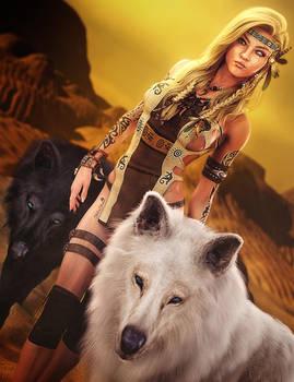 Journey, Native Woman Fantasy Art, Daz Studio Iray
