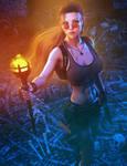 Lara Croft, Tomb Raider Fantasy Fan-Art,Daz Studio