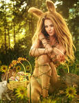 Easter Bunny Girl Pin-Up 3D-Art, Daz Studio Iray