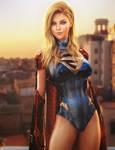 Supergirl DC Superheroine Fan-Art, Daz Studio Iray
