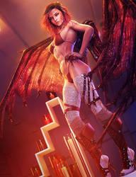 Red Boots, Devil Girl Fantasy Art, Daz Studio Iray