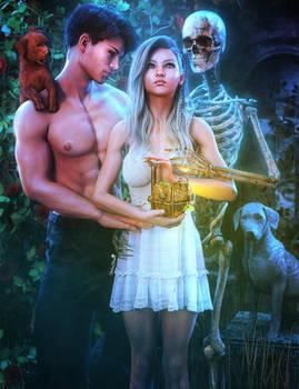 Love and Loss, Fantasy Woman 3D-Art, Daz Studio
