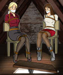 Sara and  Becky - Lofty aspirations