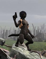 Post Apocalyptic Werewolf by Skalla-Grimm