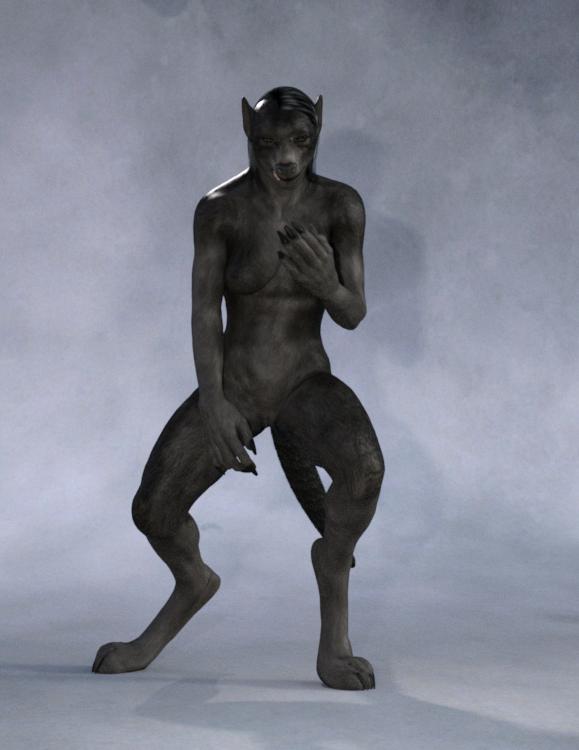 Steph werewolf Iray test by Skalla-Grimm
