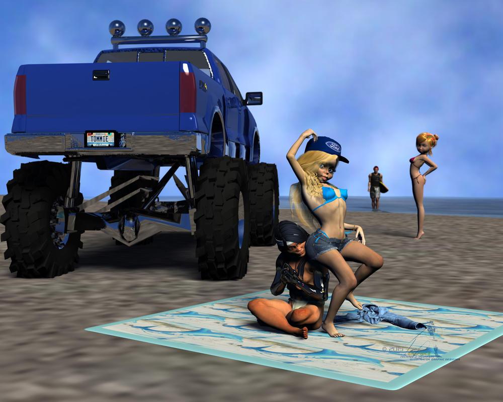 Beach Mischief by Tramp-Graphics