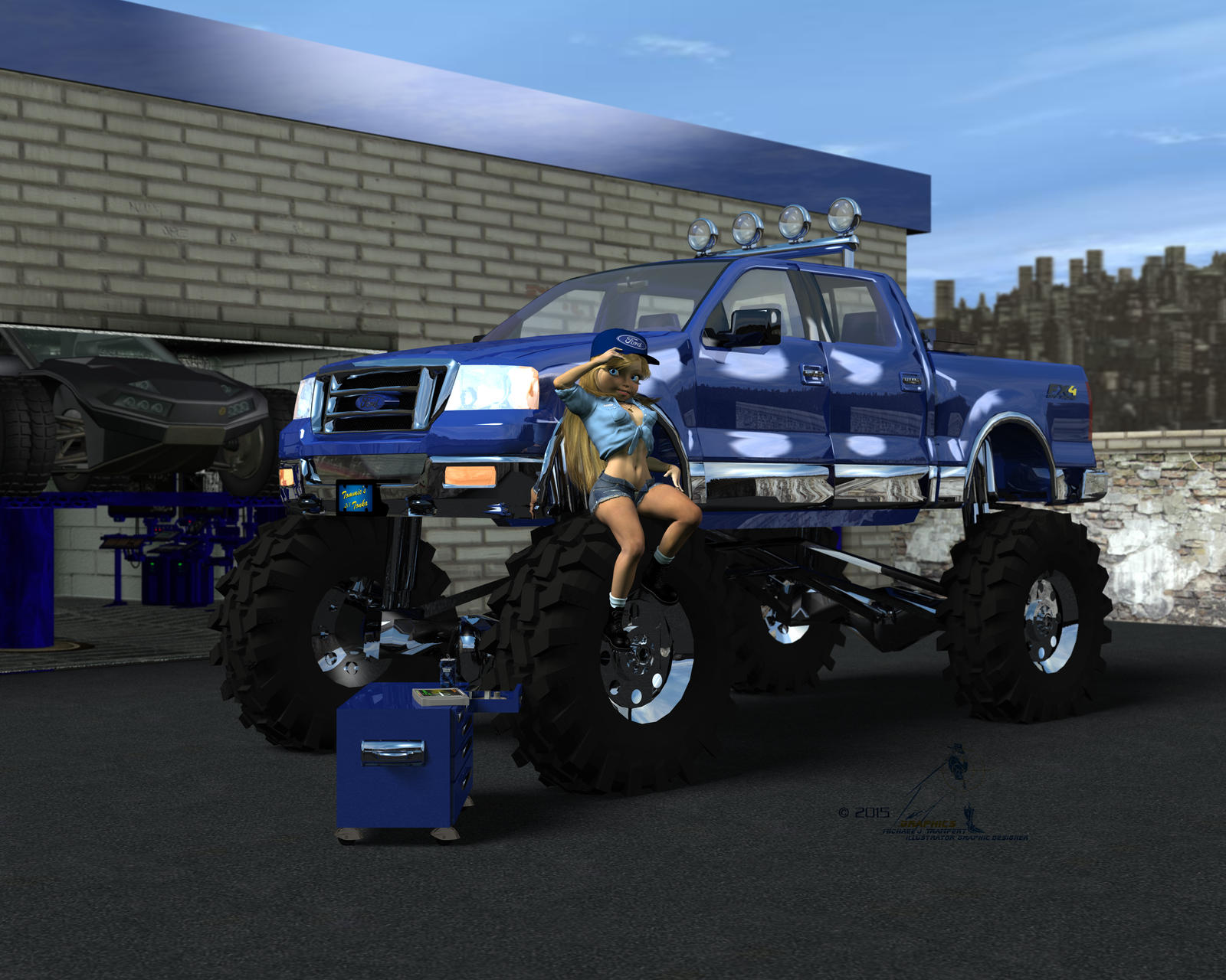 Little girl big truck by tramp graphics on deviantart little girl big truck by tramp graphics publicscrutiny Images