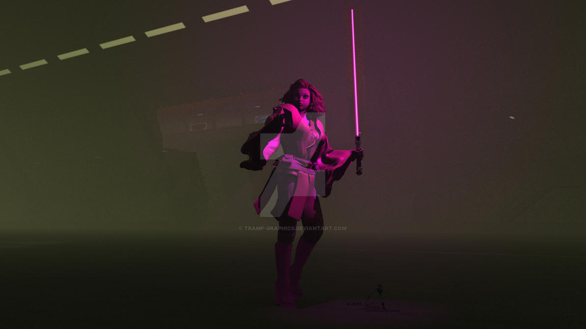 Barbie Jedi by Tramp-Graphics