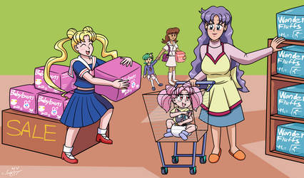 Commission: Shopping for Necessities by JayManney4Life