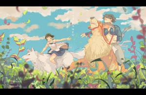 The Princess of Mononoke by fukamatsu