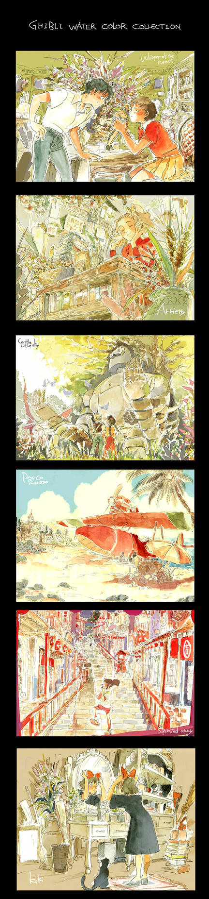 Ghibli water color