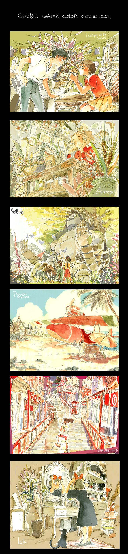 Ghibli water color by fukamatsu