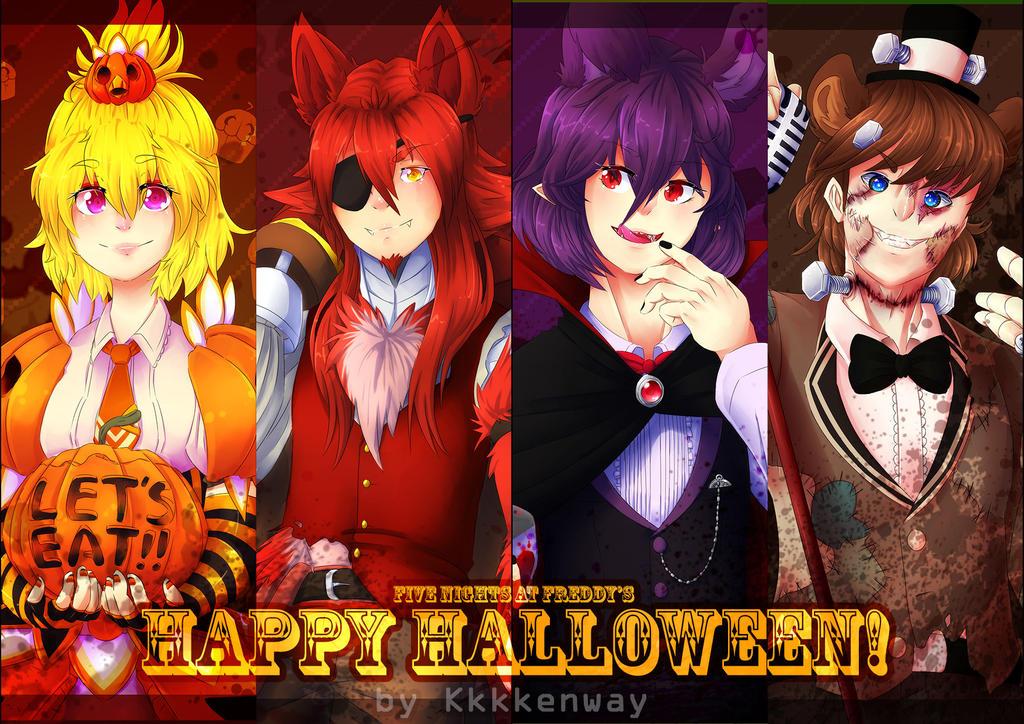 FNAF - Halloween by en-wakwaw on DeviantArt