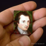 Mini Goethe portrait painting