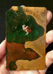 Copper Metrocard Painting 8 by Paintsmudger