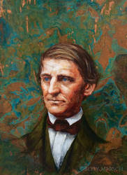 Ralph Waldo Emerson by Paintsmudger