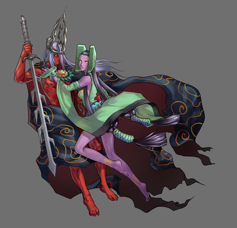 Susanou and  kusinada princess by Poltergeist0001
