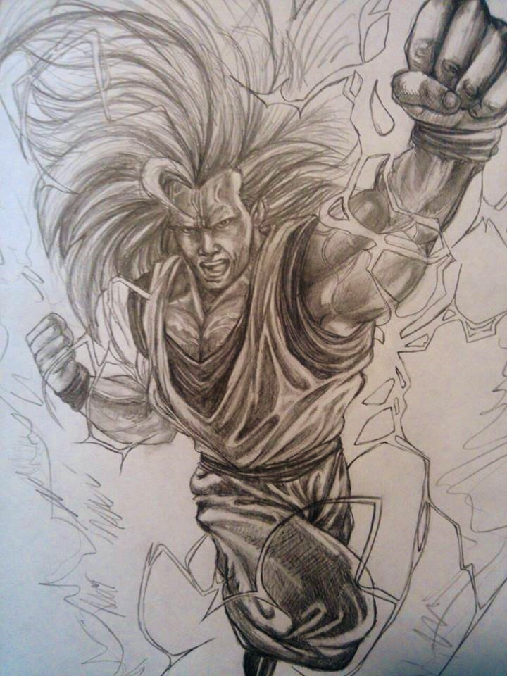 Super Saiyan 3 Goku by ExistTRACE