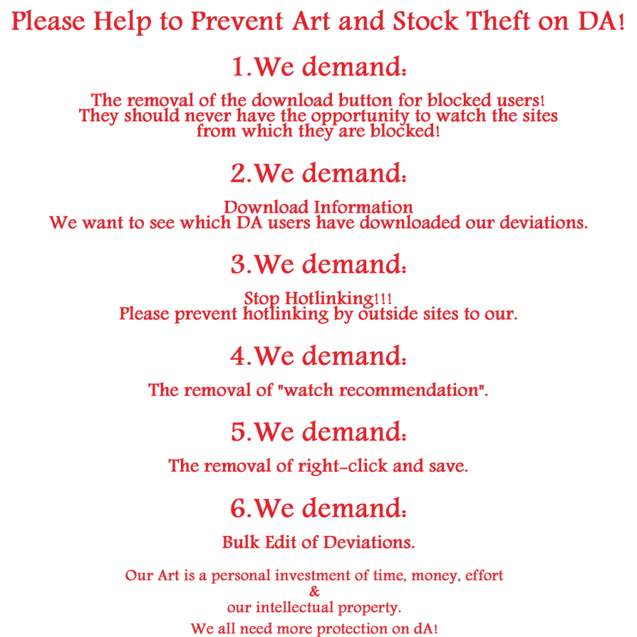 Petition Help To Prevent Art And Stock Thef By Cd  by nudagimo